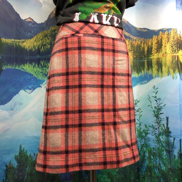 4219c1312e L.L. Bean Skirts | Ll Bean 70s Retro Wool Blend Plaid Andover Skirt ...
